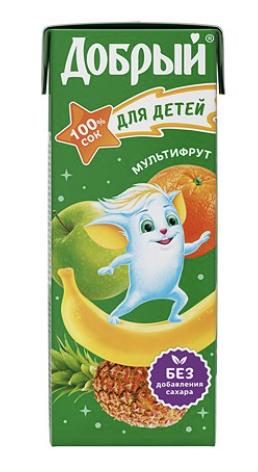 """Сок """"Добрый"""" мультифрукт 0.2 л."""