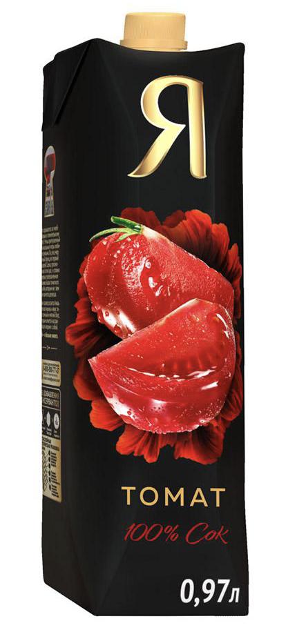 """Сок """"Я"""" томатный 1 л."""