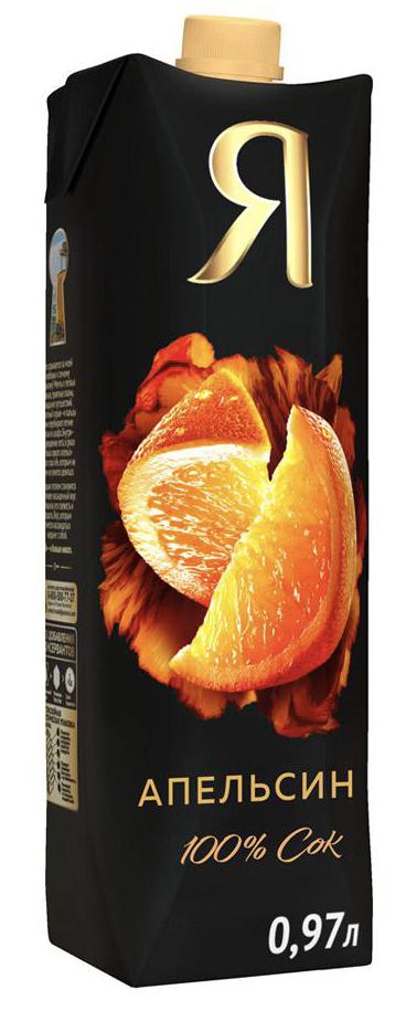 """Сок """"Я"""" апельсин (с мякотью) 1 л."""