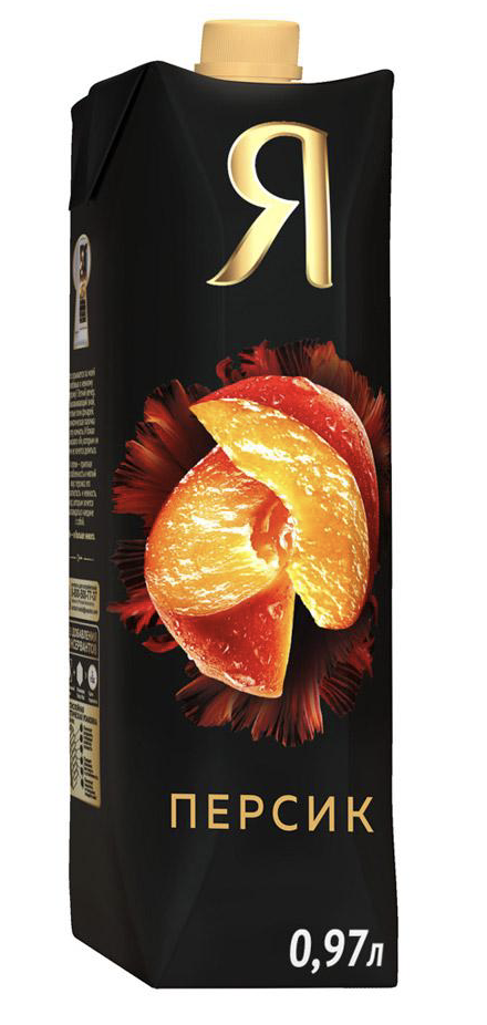 """Нектар """"Я"""" персик (с мякотью) 1 л."""
