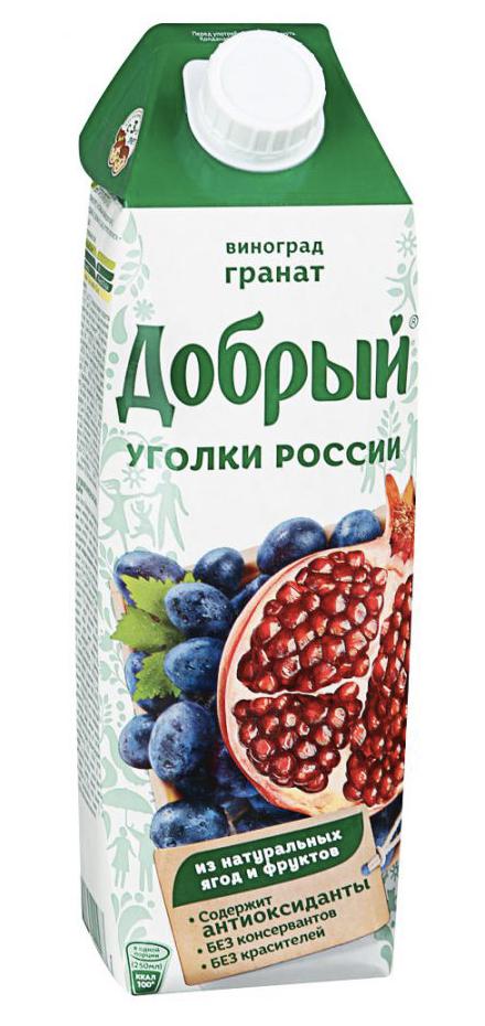 """Нектар """"Добрый"""" виноград-гранат 1 л."""