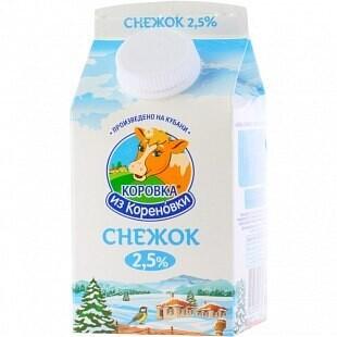 СНЕЖОК КОРОВКА ИЗ КОРЕНОВКИ 2,5% ПЮР-ПАК 0,45