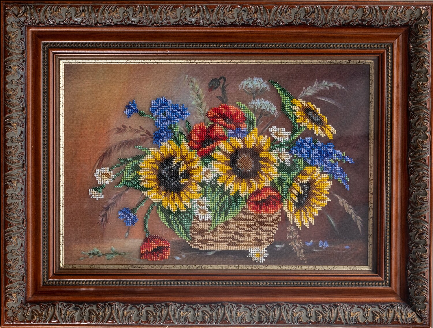 Sunflowers in the basket