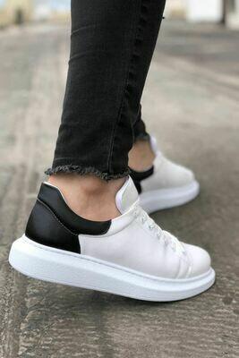 Fekete Fehér Férfi Utcai Cipő