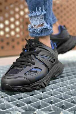 Fekete Férfi Sport Cipők