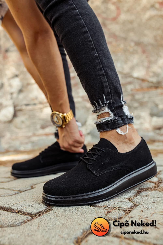 Elegáns Desert Black Cipő