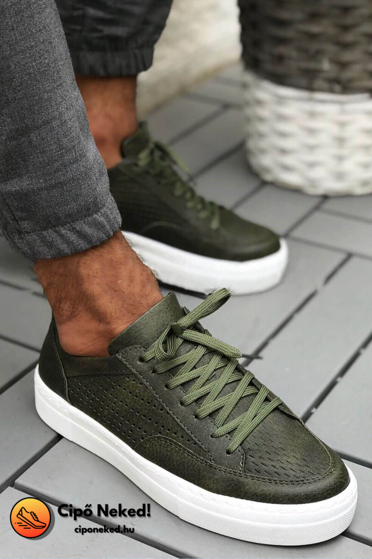 Semt Khaki Zöld Cipő