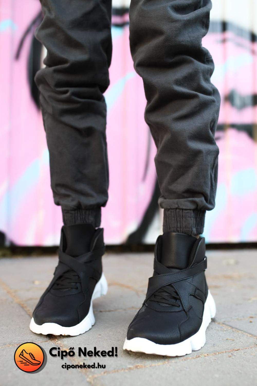 Space Racer Long Fekete Cipő
