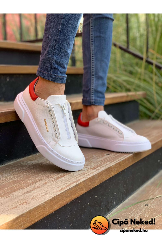 Ash Red Line Fehér Cipő