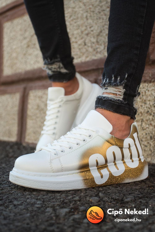 White-Gold Cool Cipő