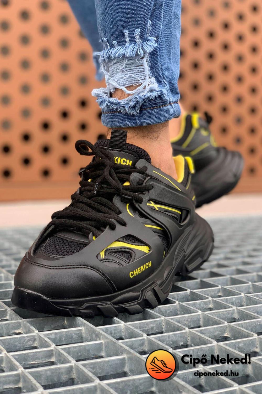 Roger Yellow Black Cipő