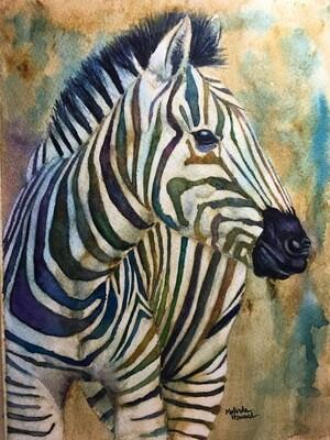 8x10 Zebra- Antique Style Series Print