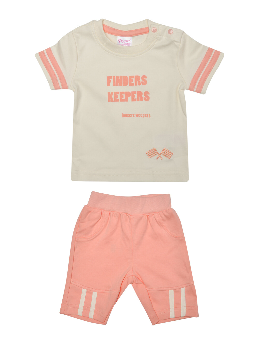 Cops Peach Blush Half Sleeves Top with Shorts