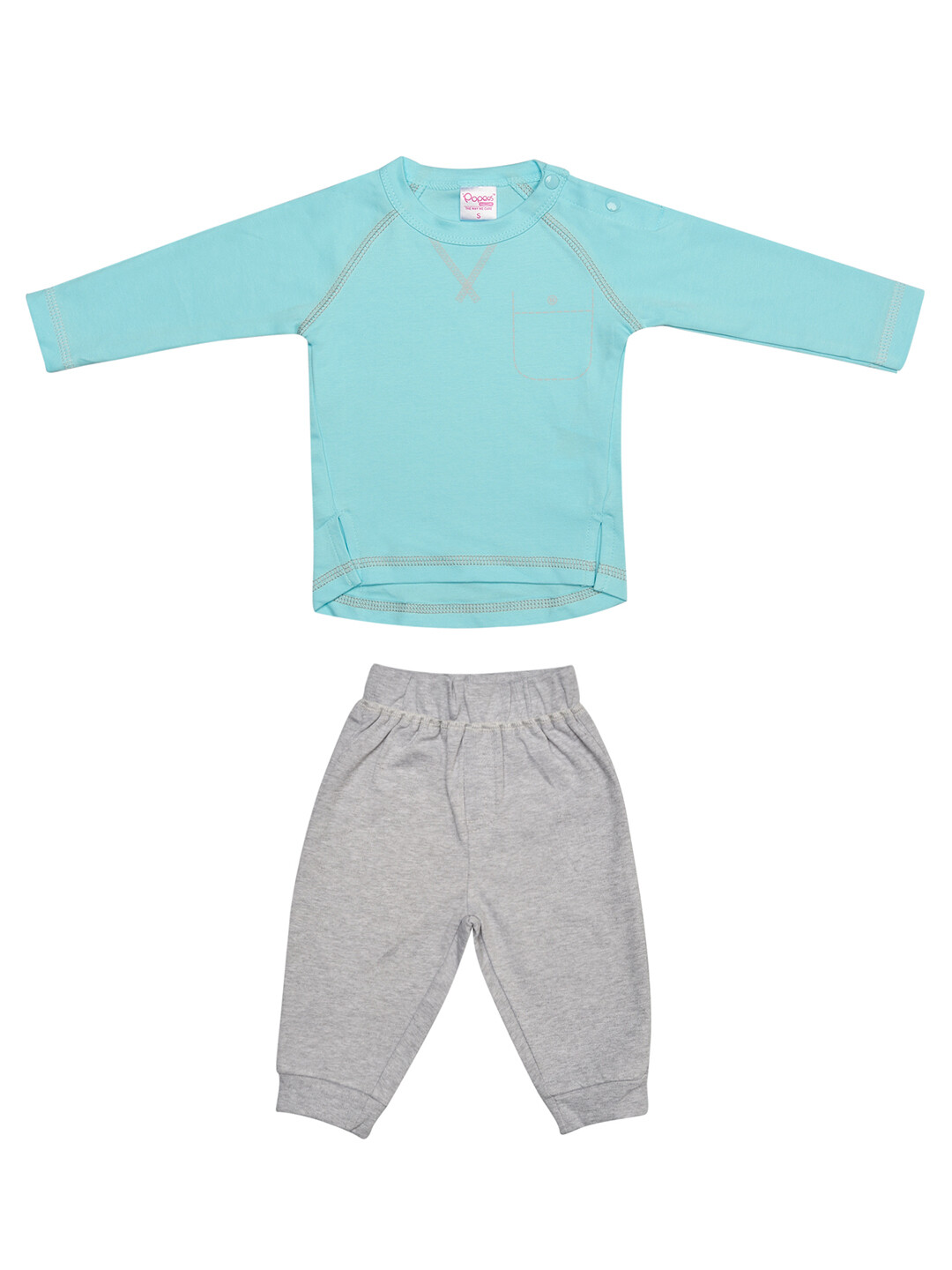 Fives Blue Full Sleeves Round Neck T-shirt with Lounge Pant