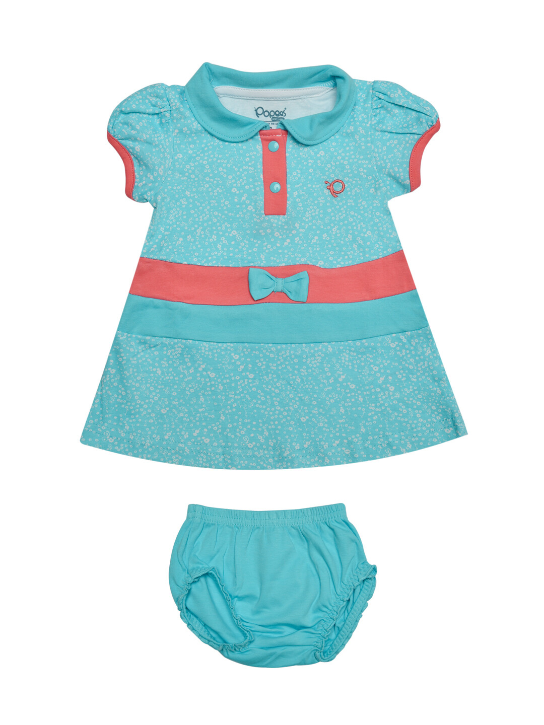 Agnus Bachelor Blue Half Sleeve Frock with Bloomer