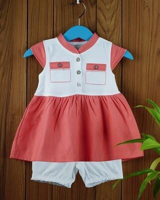 Ekta Coral Baby Girl Multi Colour Dress