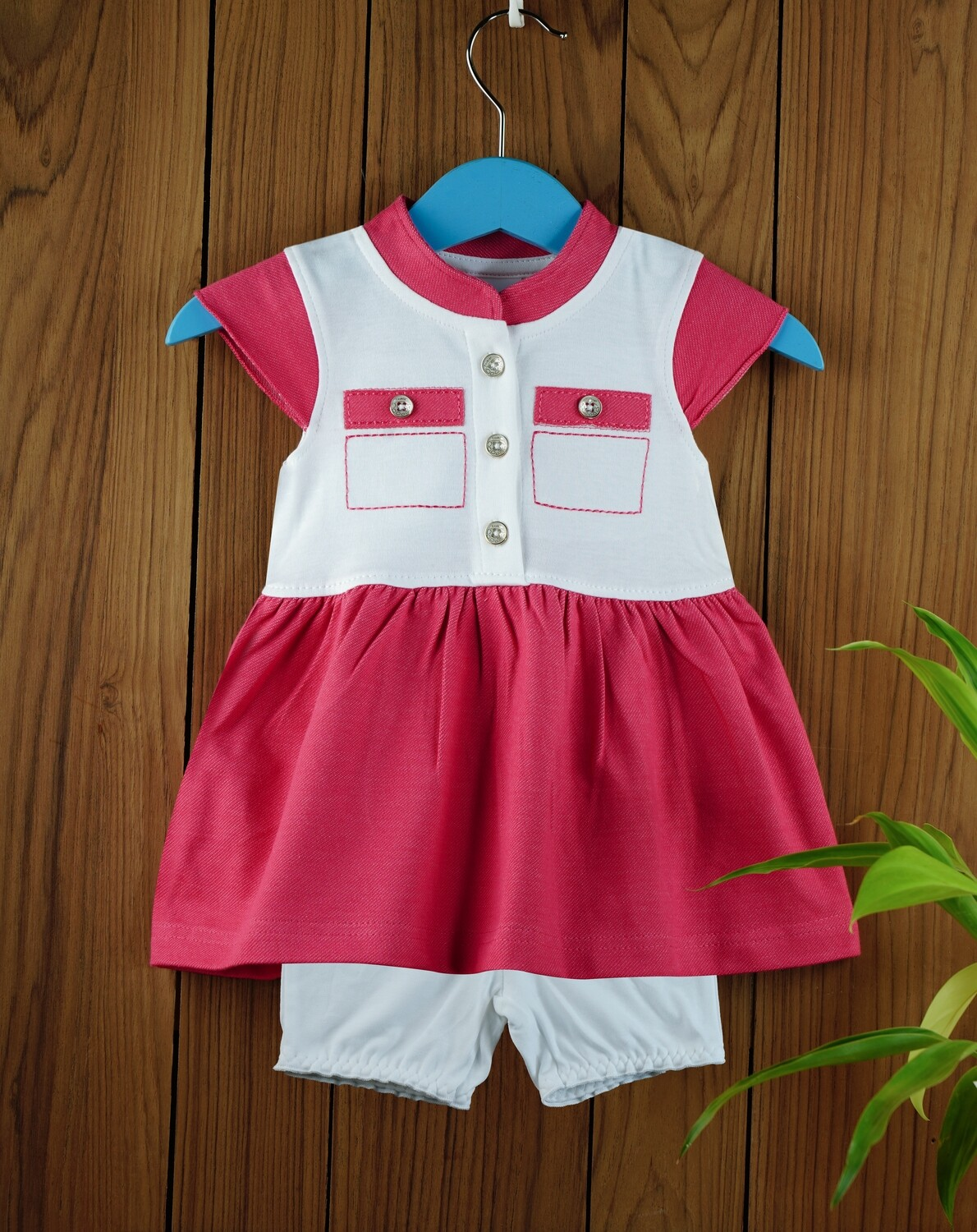 Ekta Fuchsia Baby Girl Multi Colour Dress