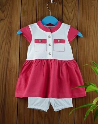 Ekta Fuchsia Baby Girl Multi Colour Dress