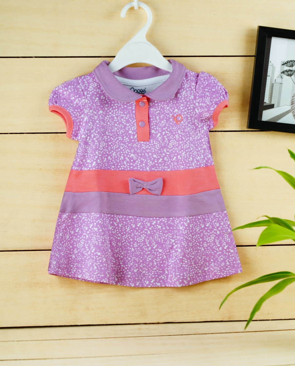 Agnus Lavender Half Sleeve Frock with Bloomer