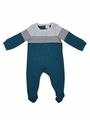 Hart Celestial Blue Full Sleeves Romper with Cap for Boys & Girls