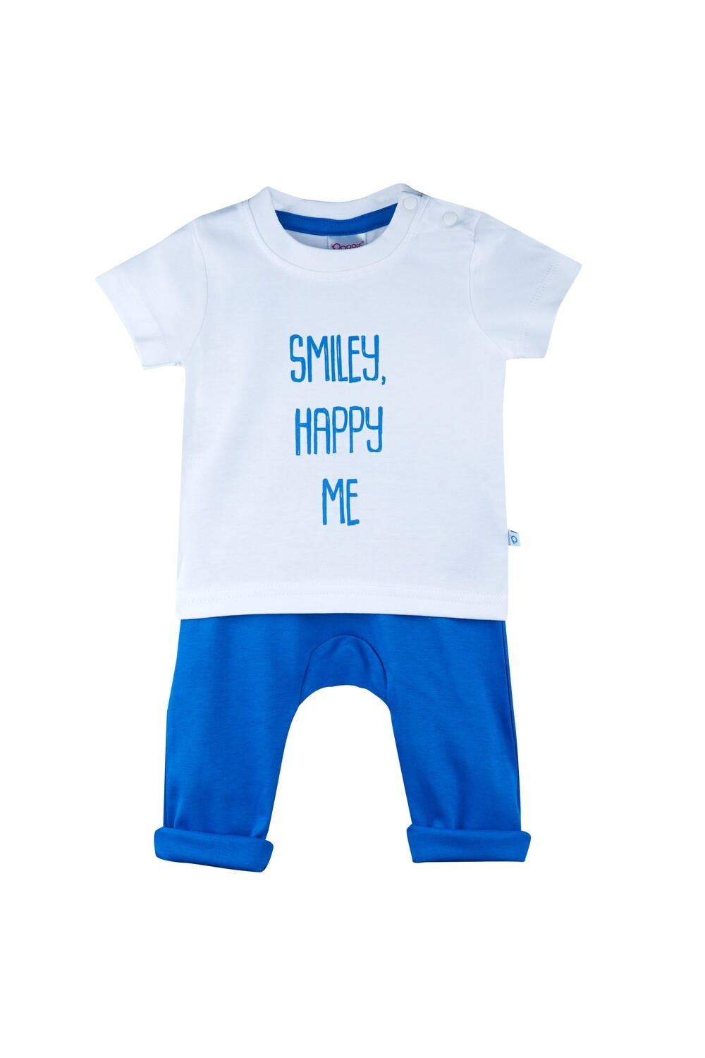 Boon Blue Round Neck Half Sleeve Printed T-Shirt with Lounge Pant & Booties for Boys