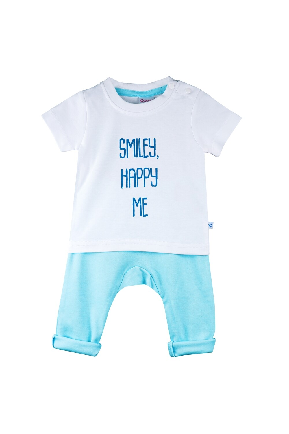 Boon Sky Blue Round Neck Half Sleeve Printed T-Shirt with Lounge Pant & Booties for Boys