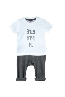 Boon Charcoal Black Round Neck Half Sleeve Printed T-Shirt with Lounge Pant & Booties for Boys