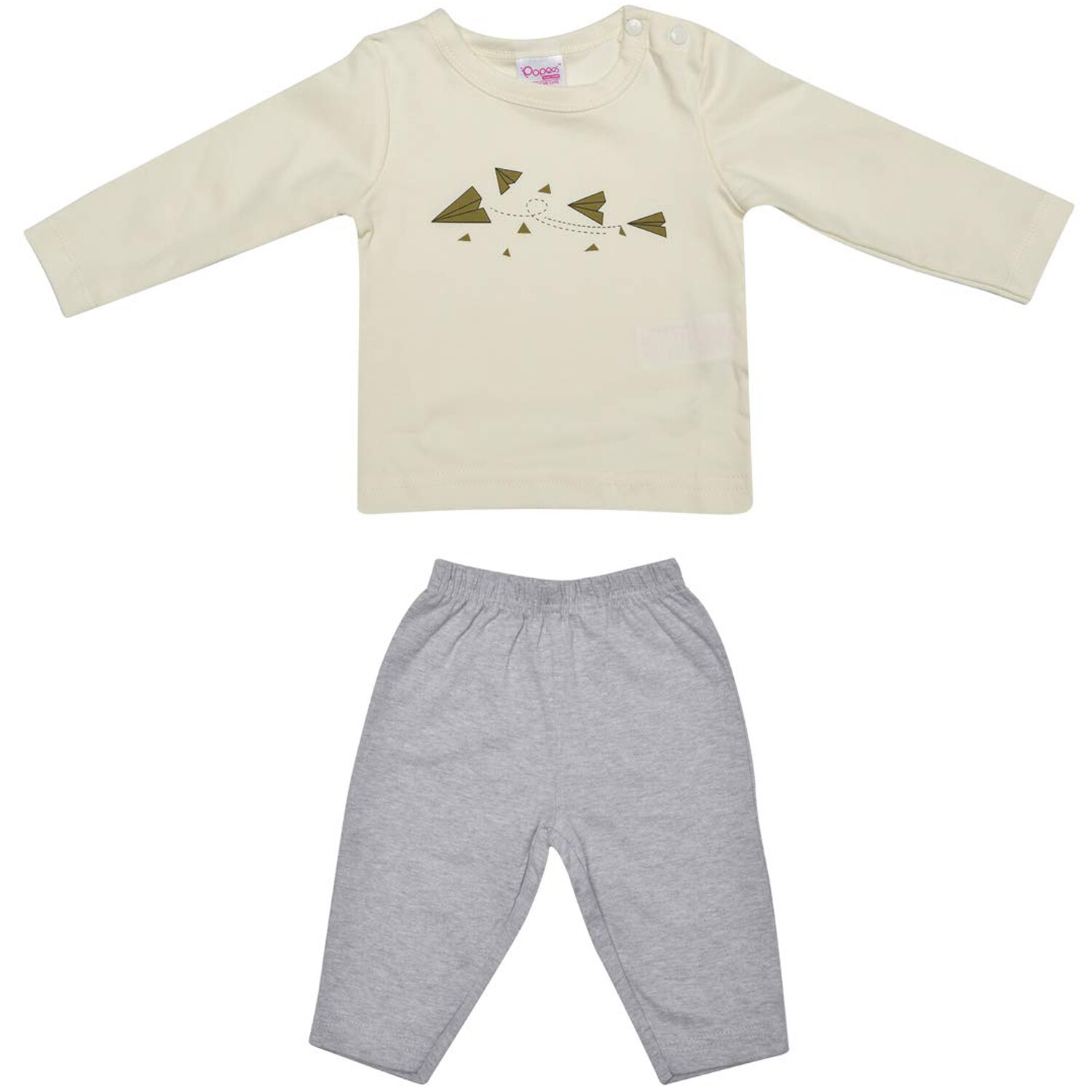 Altman Full Sleeve Ivory T-Shirt with Pants for Baby Boys