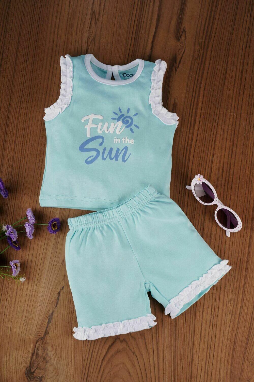 Portia Aqua Sky for Baby Girls