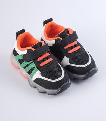 Striking  Orange & Black Sneakers