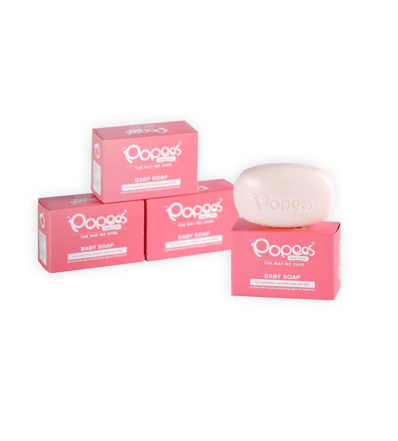 Popees  Pack of 3 Moisturizing Baby Soaps - BUY 2 GET 1 FREE