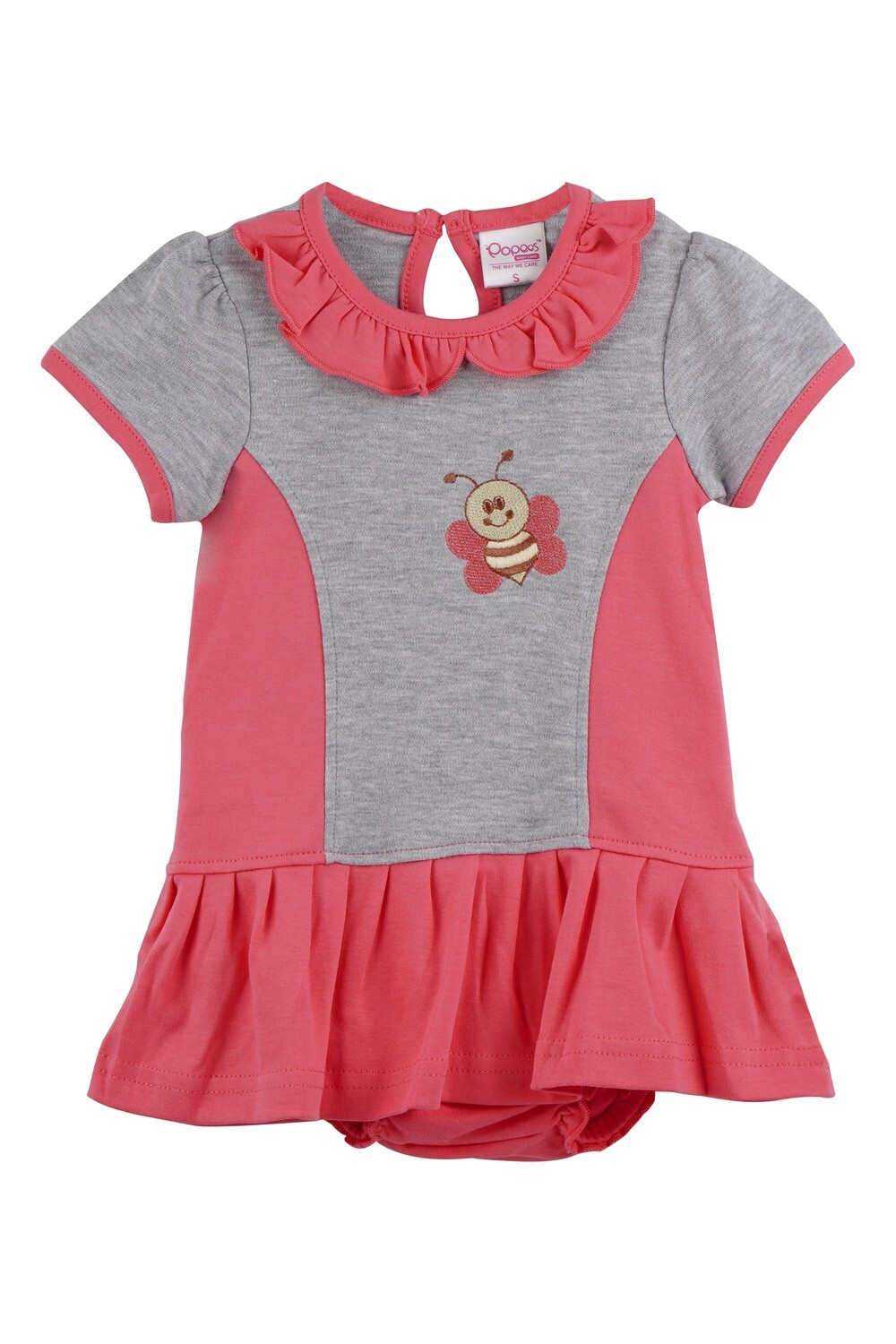 Omega Corel Half Sleeve Frock with Bloomer for Baby Girls
