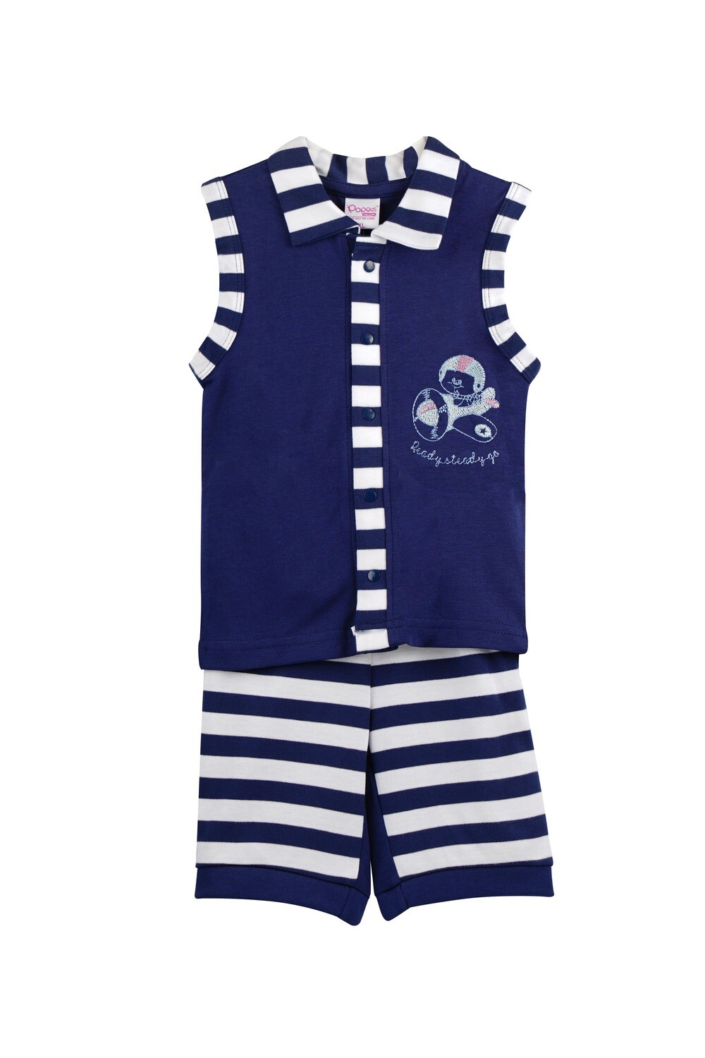 Popees Chitwan Navy Blue for Baby Boys (XL: 18-24 Months)