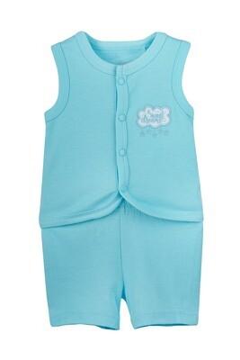 ARTHER BLUE Top & Bottom Top/Shorts Sleeveless Front Open Interlock GIRLS