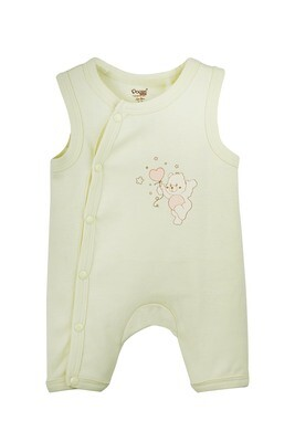 ISCO Young Wheat Romper Rompers Sleeveless Front Open Interlock UNISEX