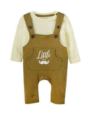 SMITH Dull Gold Dungree Dungaree Full Sleeve Shoulder Open Interlock BOYS