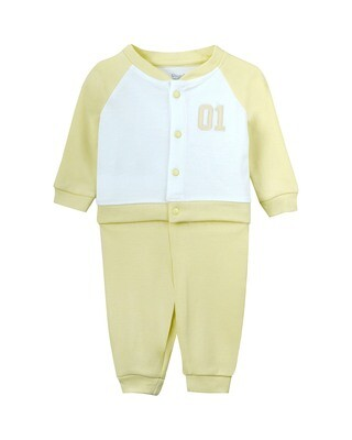 WILLEM Young Wheat Top & Bottom Top/Pant Full Sleeve Shoulder Open Interlock BOYS