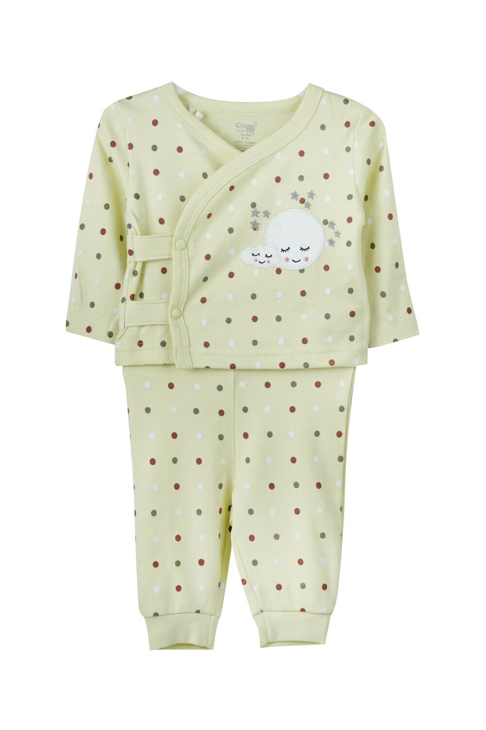 LIONEL Young Wheat Top & Bottom Top/Pant Full Sleeve Front Open Interlock BOYS