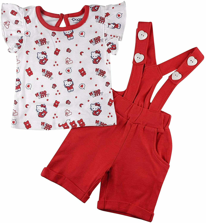 AMANDA Red Frock/Shorts Half Sleeve Back Half Open Interlock GIRLS