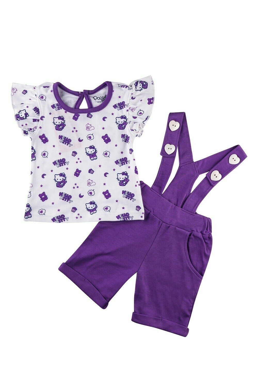 AMANDA Lavender Frock/Shorts Half Sleeve Back Half Open Interlock GIRLS