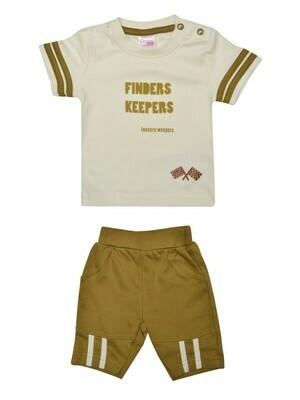 COPS Dull Gold Top/Trouser Half Sleeve Shoulder Open Interlock BOYS