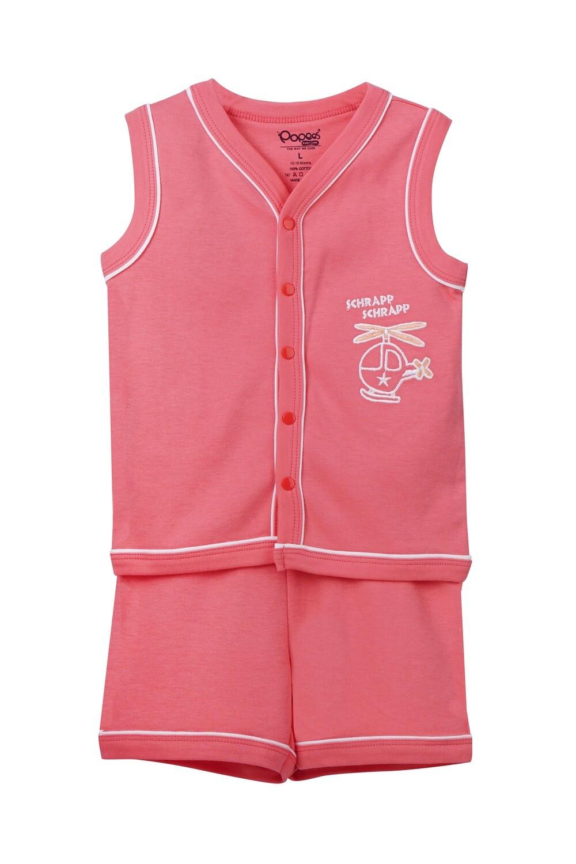 EIDER Corel Top & Trouser Sleeveless Front Open Cotton Interlock for Baby BOYS during Summer