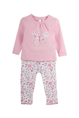 SHERRY Pink Frock/Panties Sull Sleeve Interlock for GIRLS during Winter