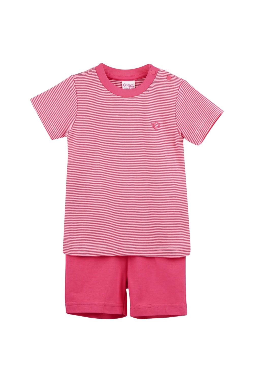 DICUR Fuchsia Top/Shorts Half Sleeve Shoulder Open Interlock for Baby BOYS