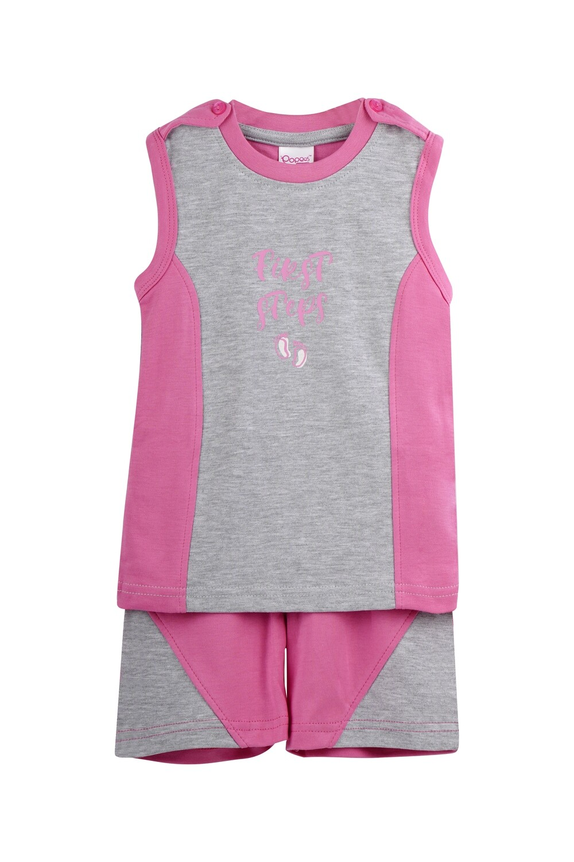 MART Azalea Pink Top/Trouser Half Sleeve Interlock for Baby BOYS for Summer