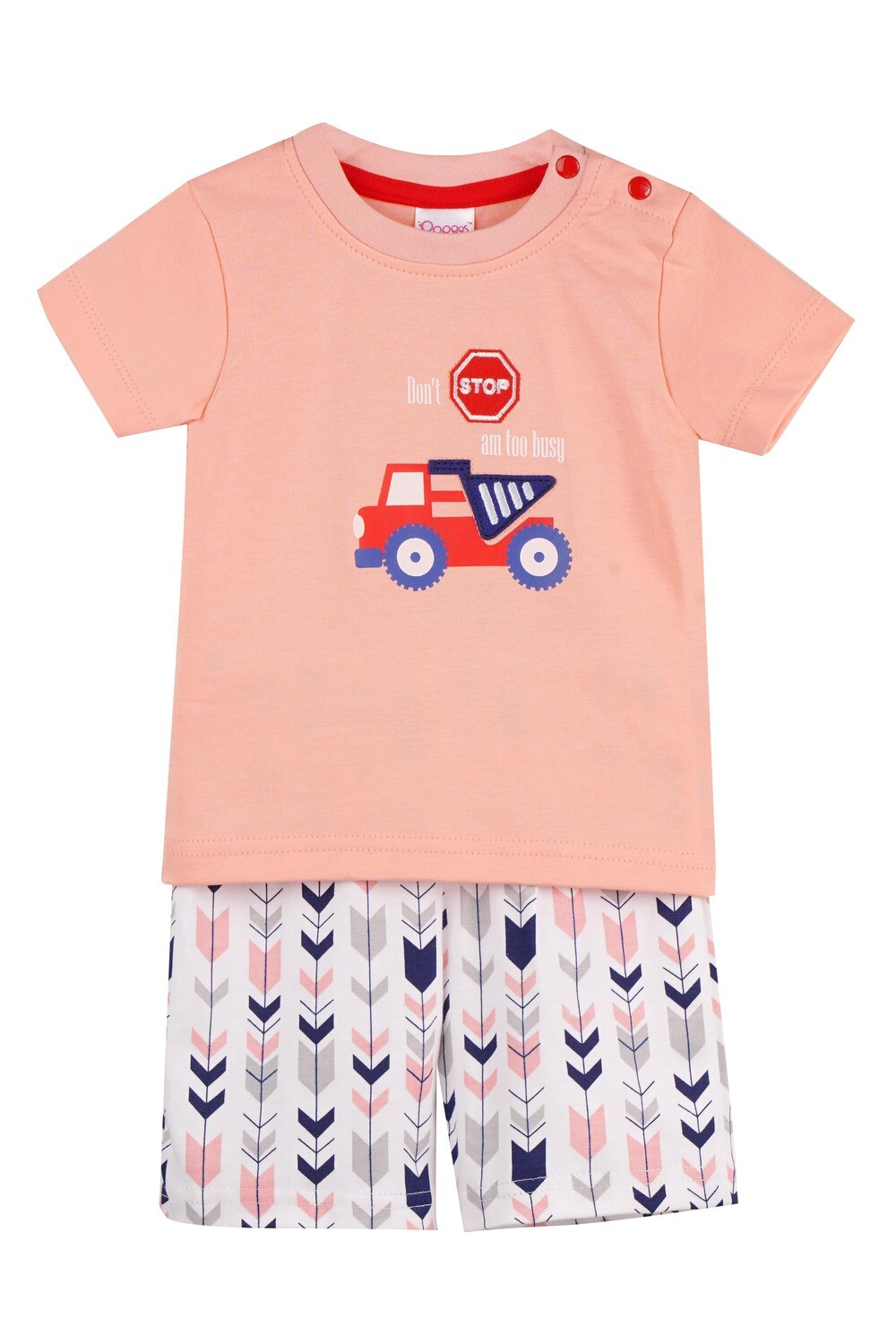 WARREN Apricot Blush Top and Trouser Half Sleeves for Baby Boys