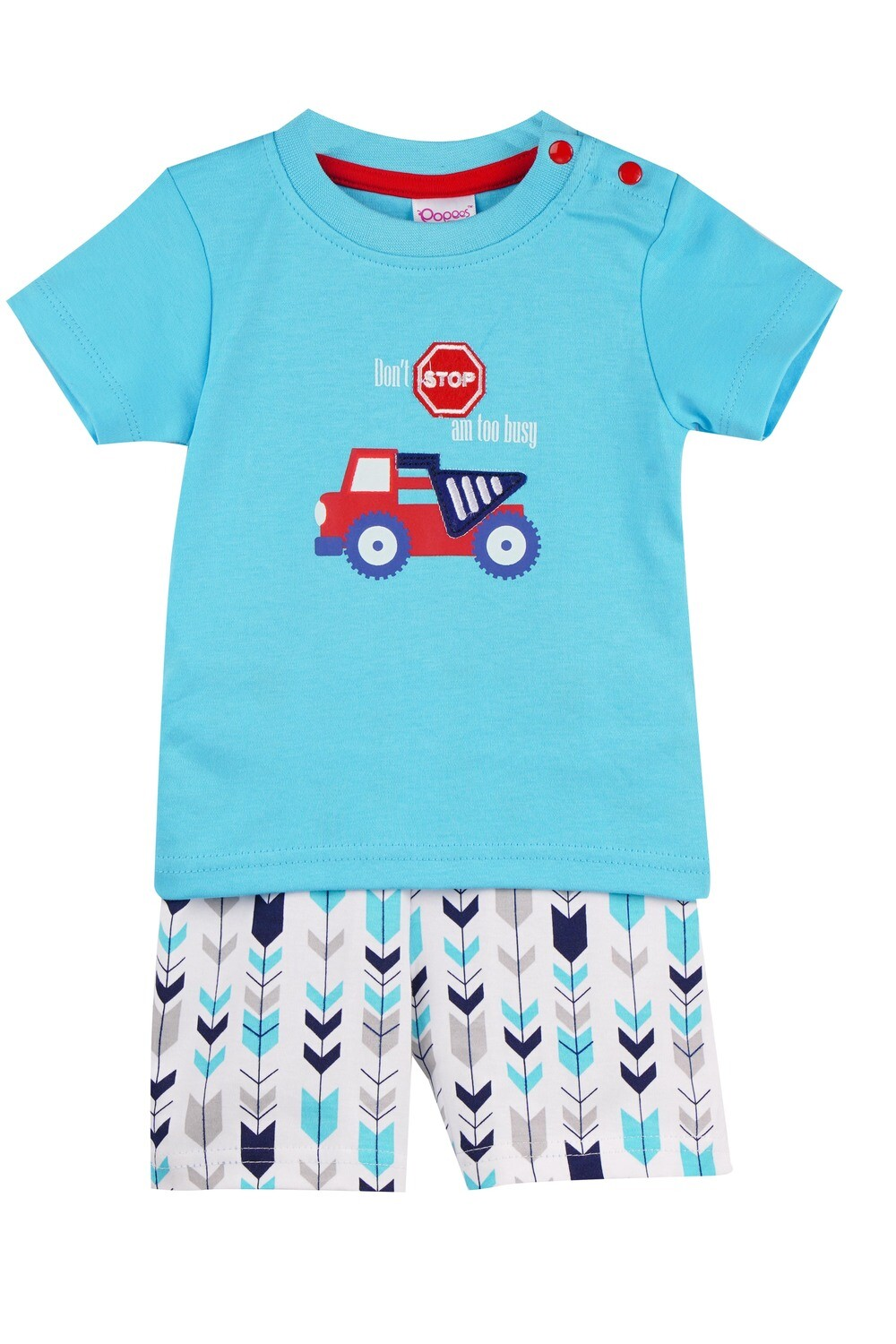WARREN Sky Blue Top and Trouser Half Sleeves for Baby Boys