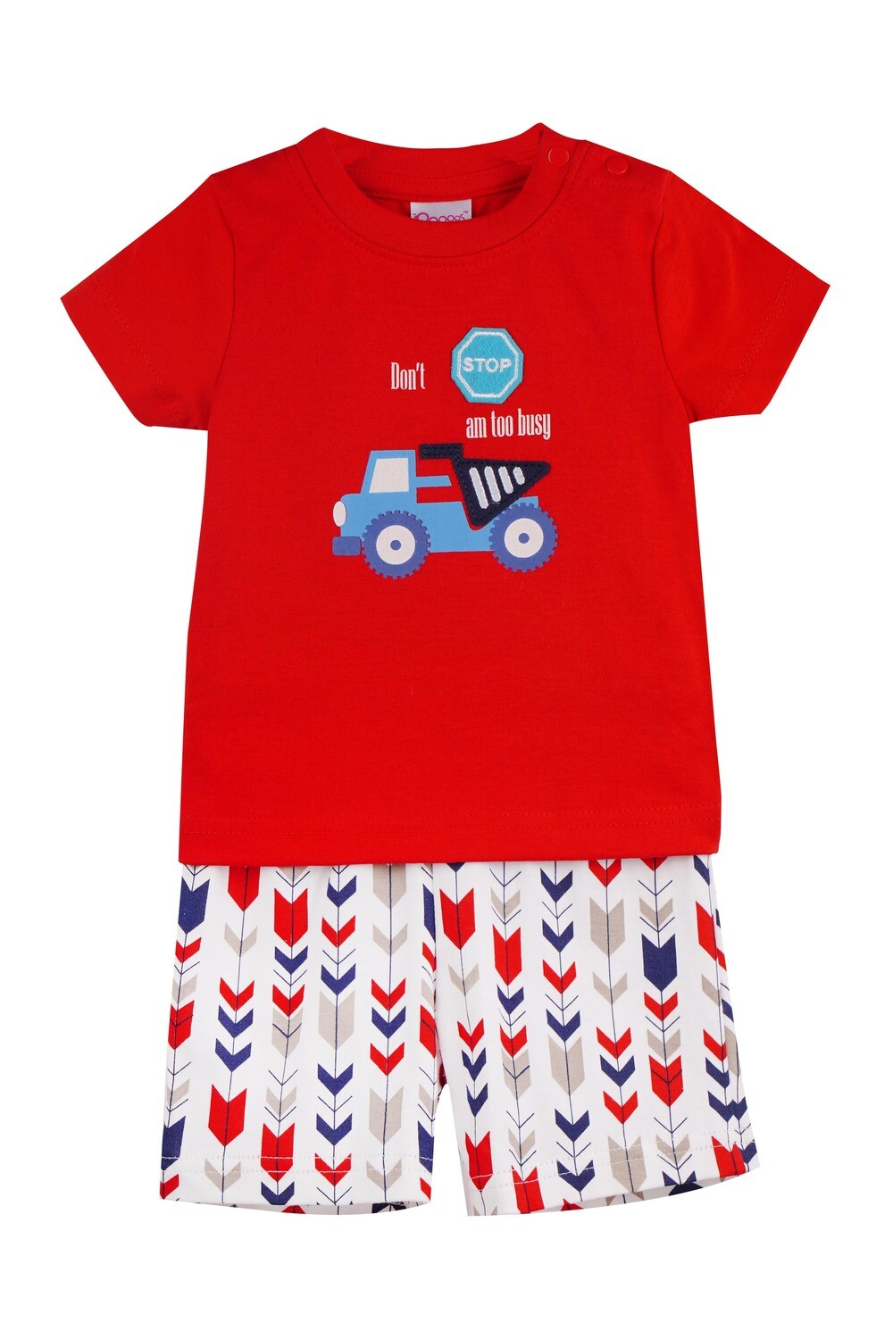 WARREN Red Top and Trouser Half Sleeves for Baby Boys