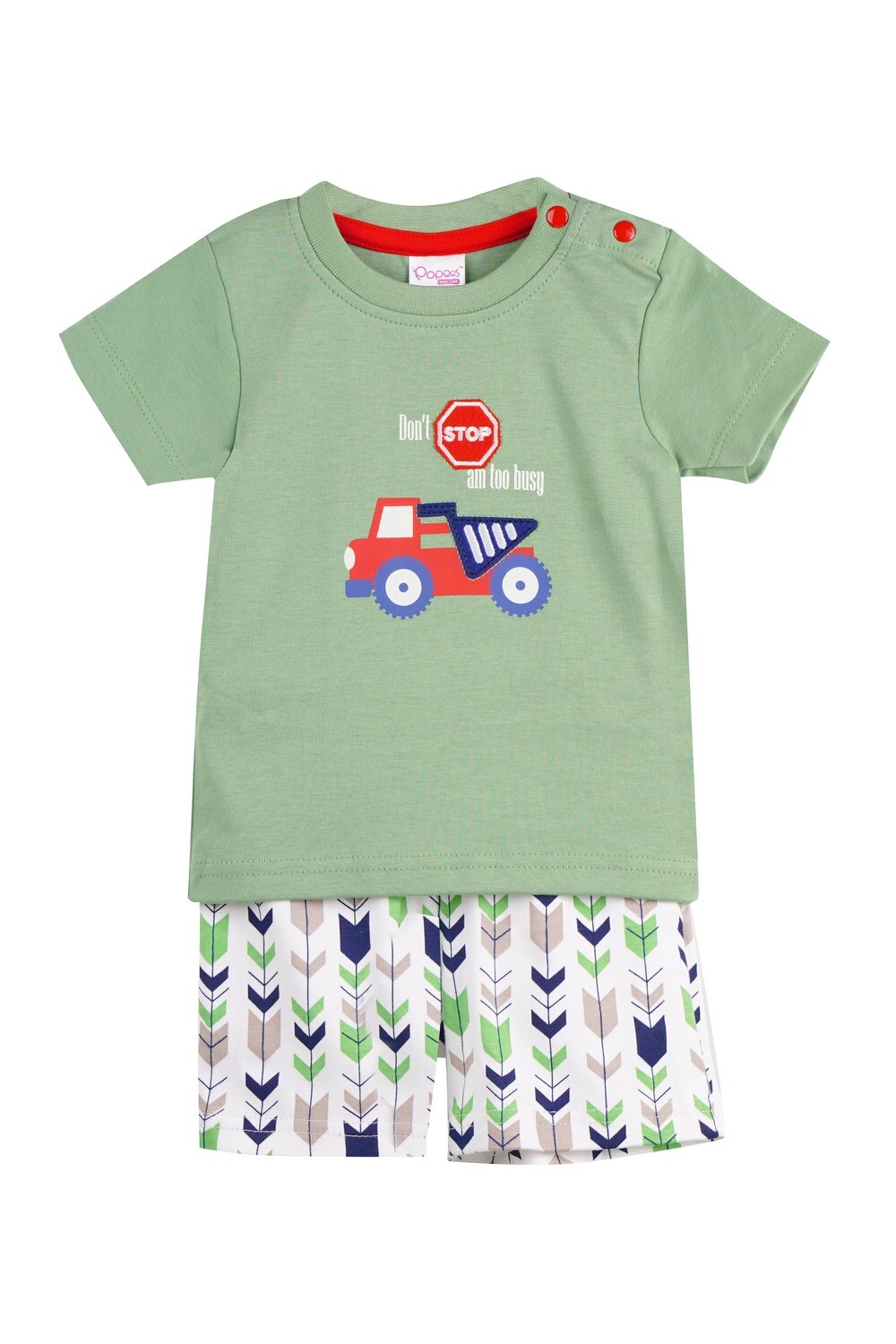 WARREN Green Top and Trouser Full sleeve for Baby Boys