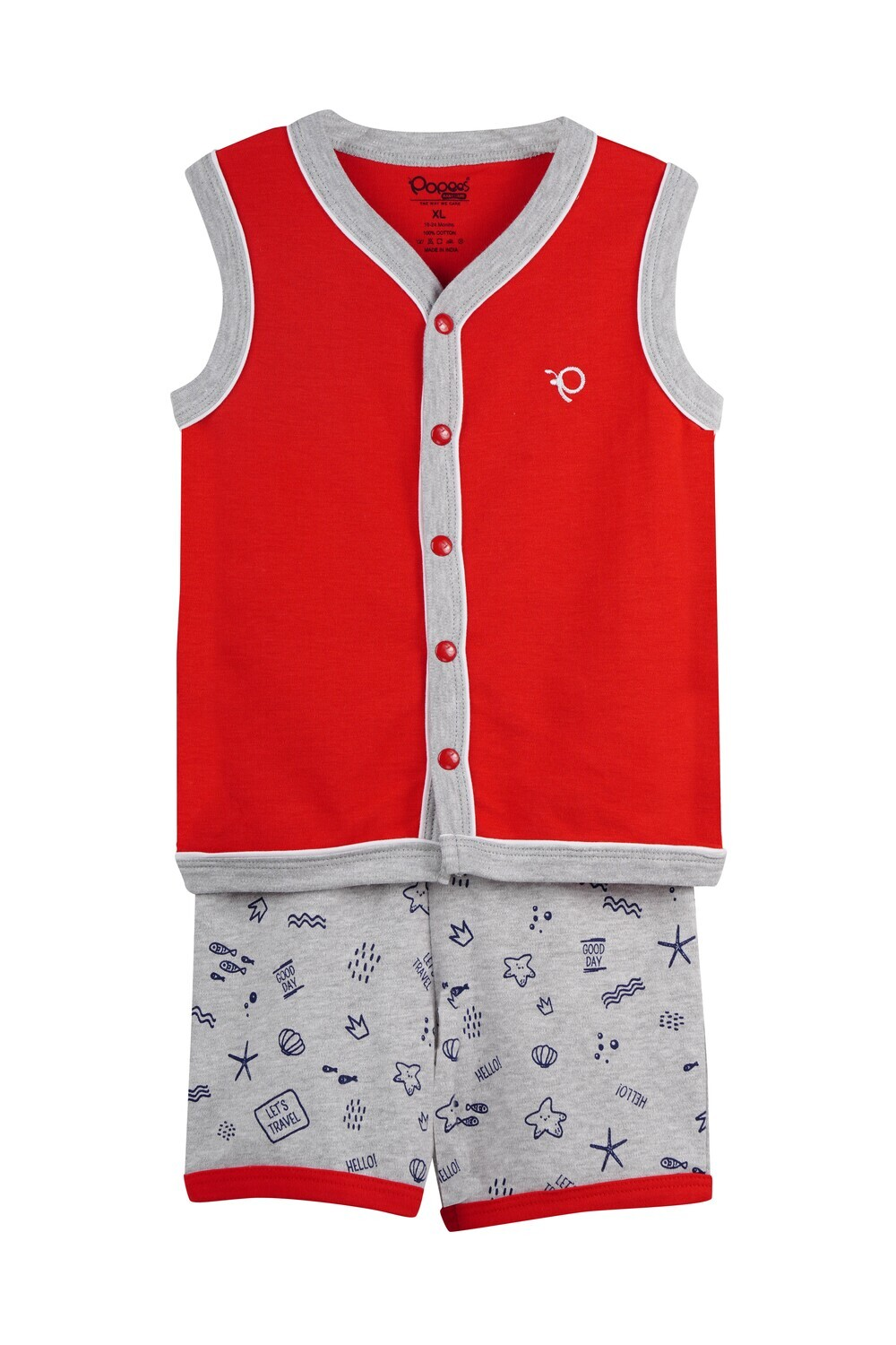 WELCH True Red Top and Shorts Sleeveless for Baby Boys